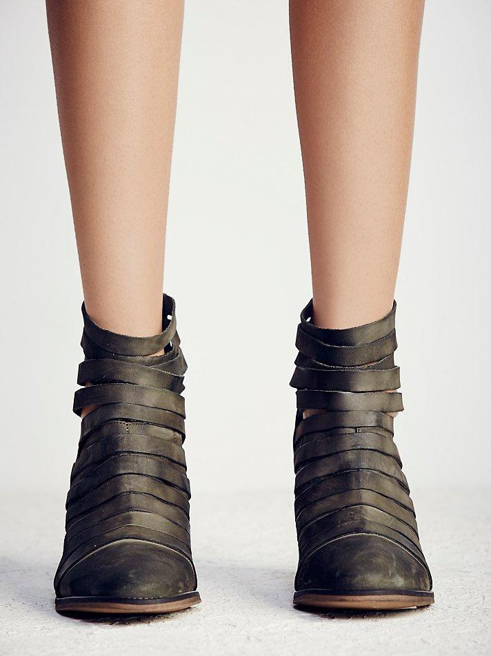 Lyst Free People Hybrid Heel Boot In Green