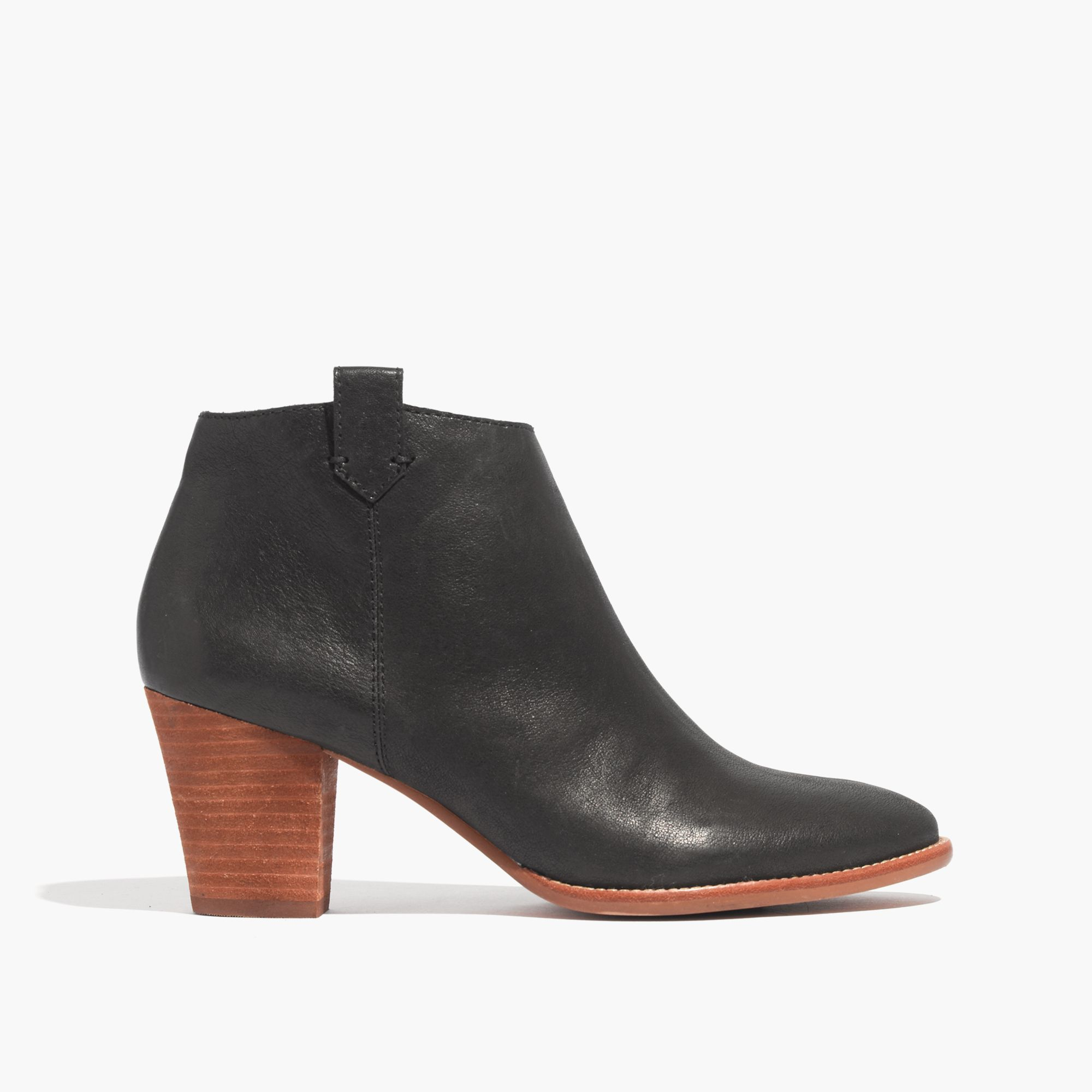 madewell the billie boot in black lyst