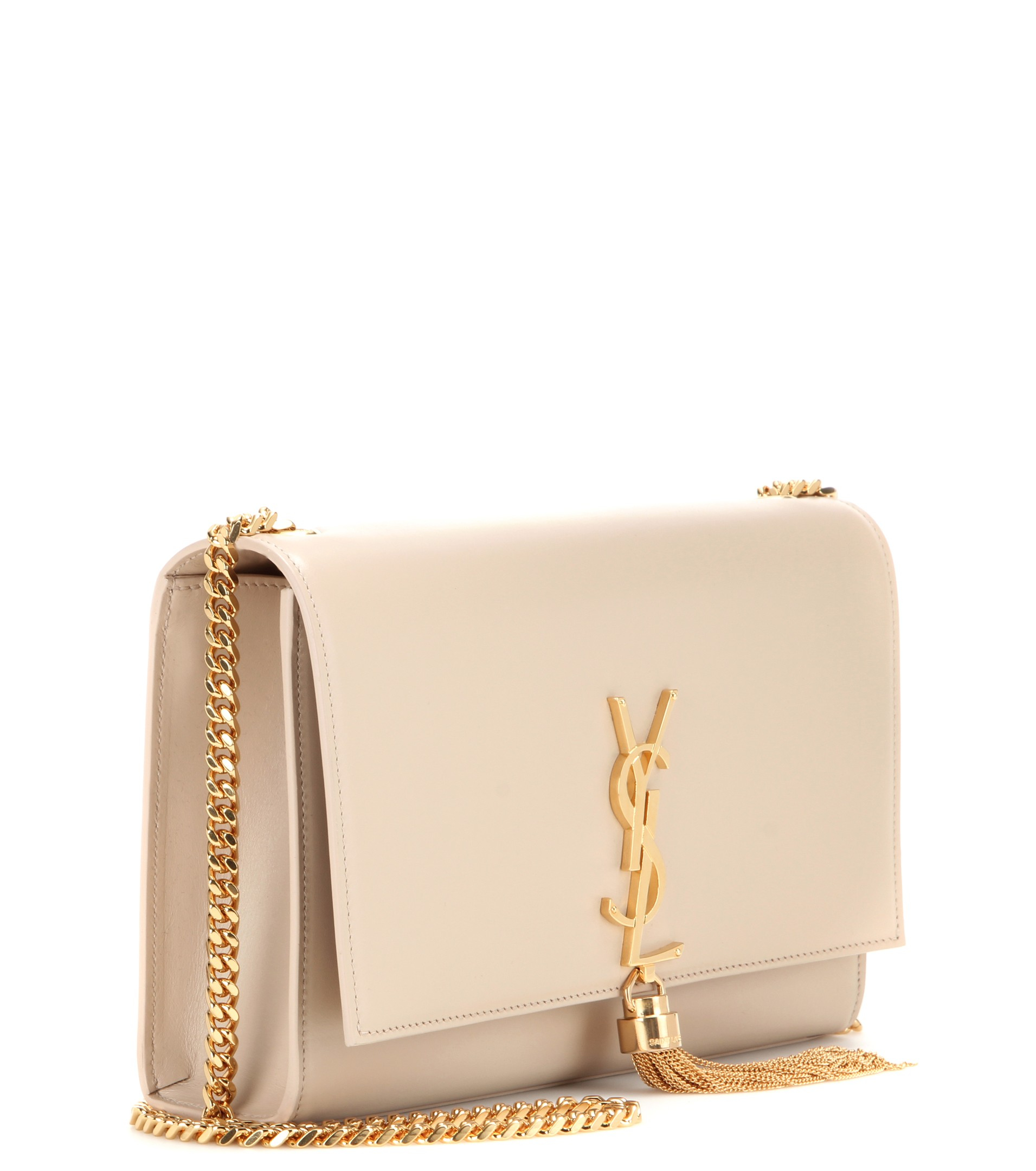 a38a1c7c424 Saint Laurent Classic Small Monogram Leather Shoulder Bag in Pink - Lyst
