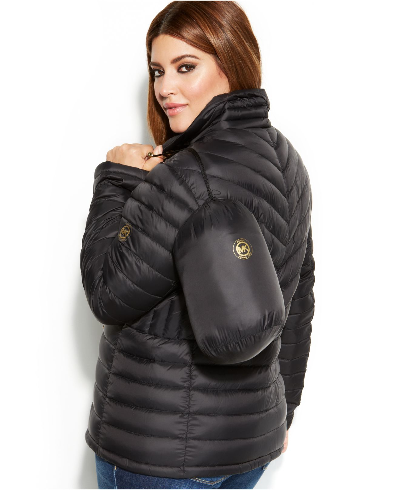 f3b3ce3cac9 Lyst - Michael Kors Michael Plus Size Packable Quilted Down Puffer ...