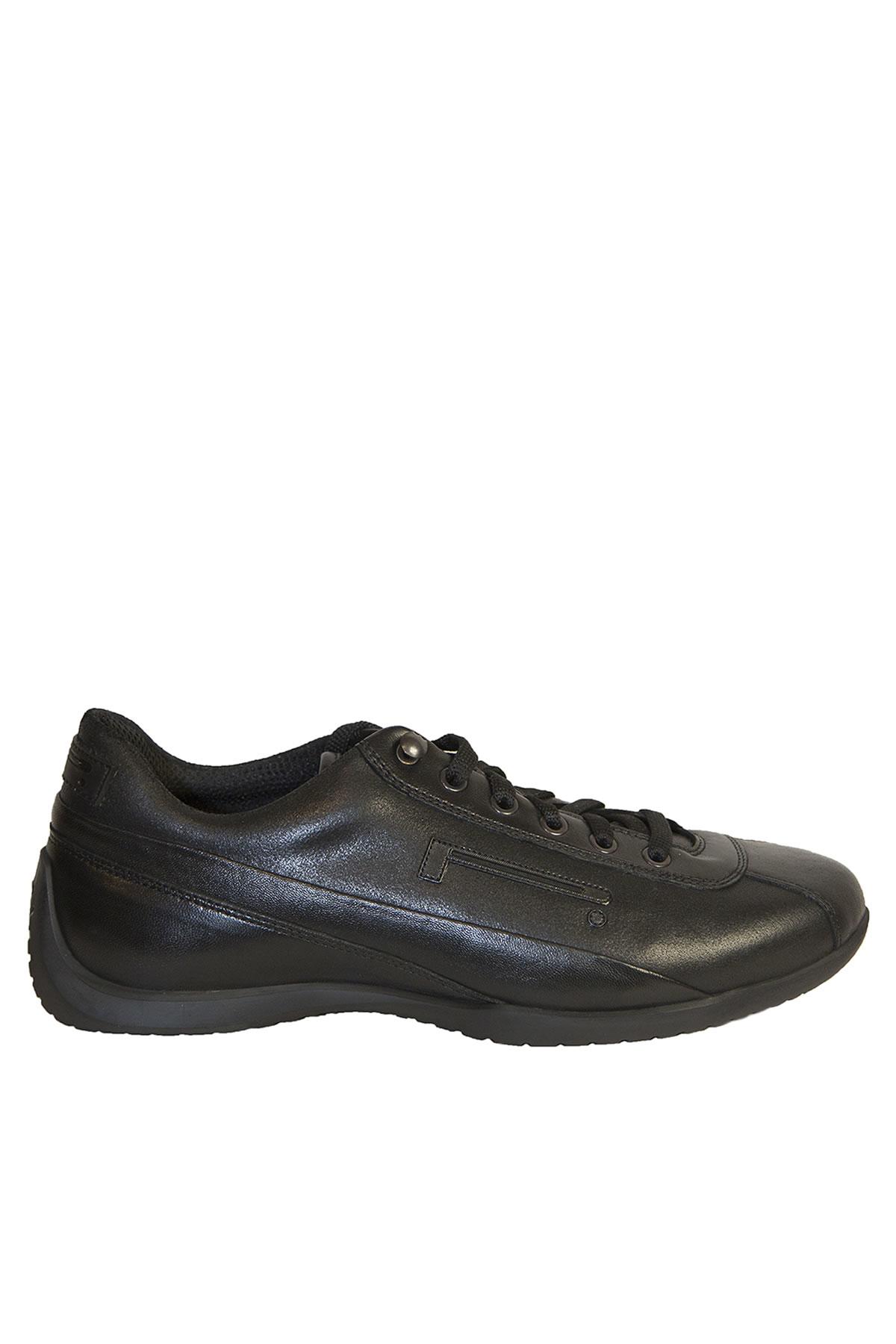 pirelli pzero leather sneakers in black for nero
