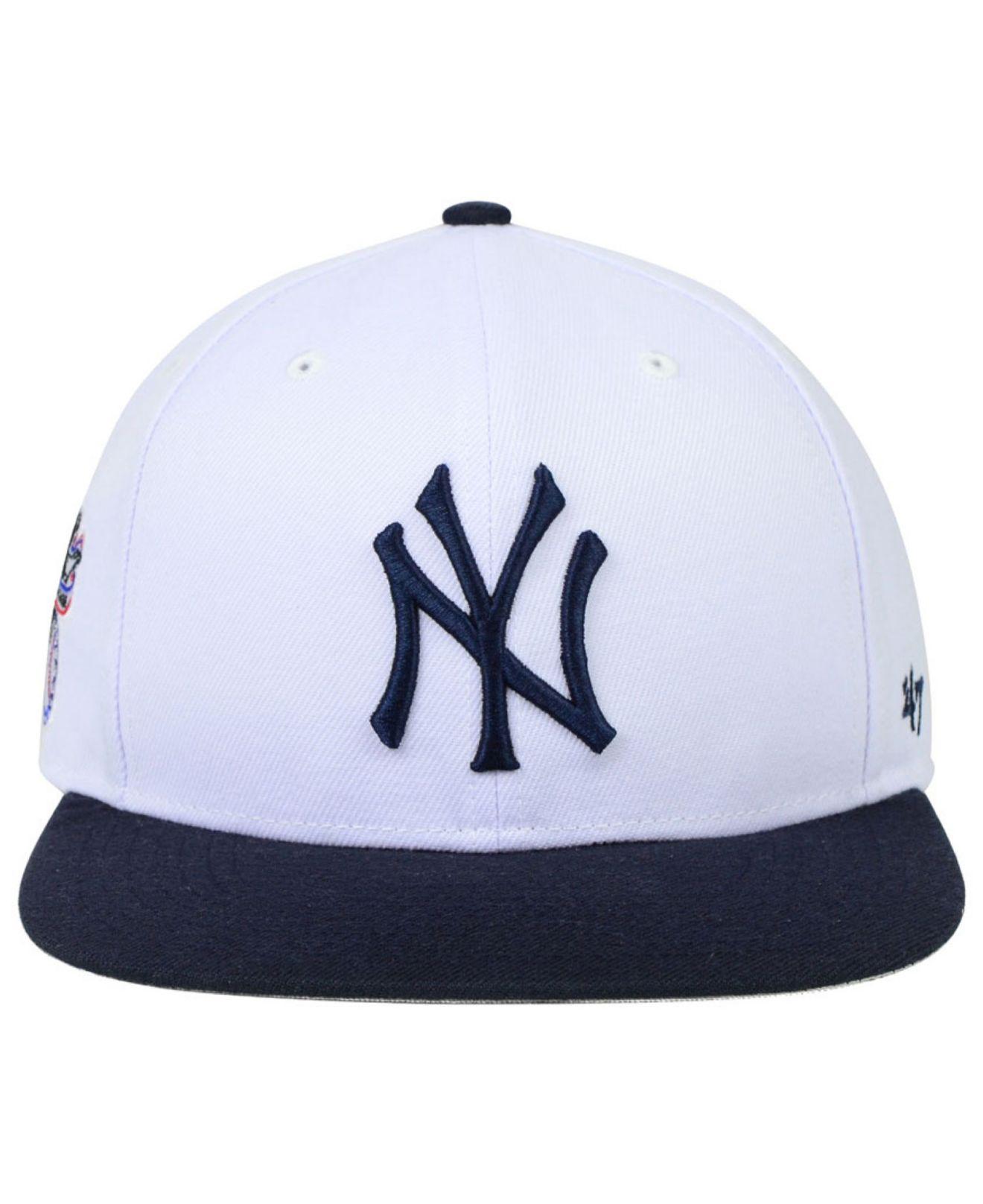 28c21dd4e9d3b Lyst - 47 Brand New York Yankees Sure Shot Snapback Cap in White for Men