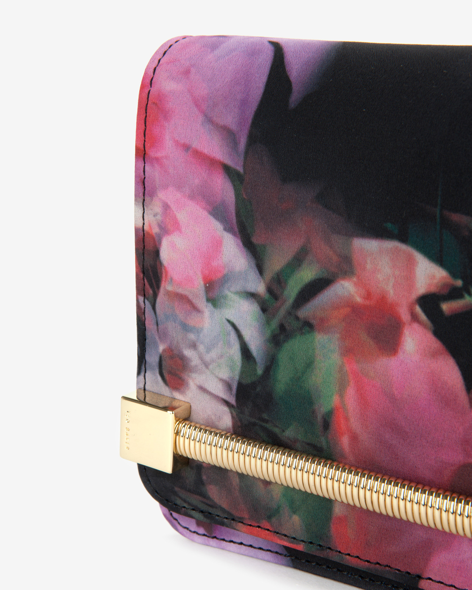 147e8c5a1140 Lyst - Ted Baker Cascading Floral Clutch Bag in Black