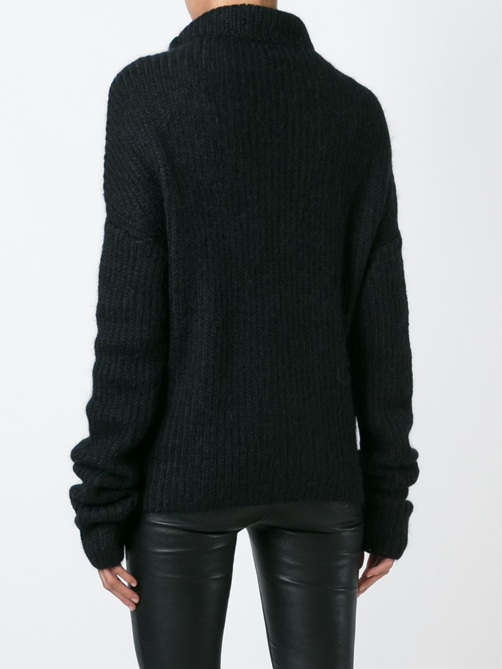 haider ackermann roll neck sweater in black lyst. Black Bedroom Furniture Sets. Home Design Ideas