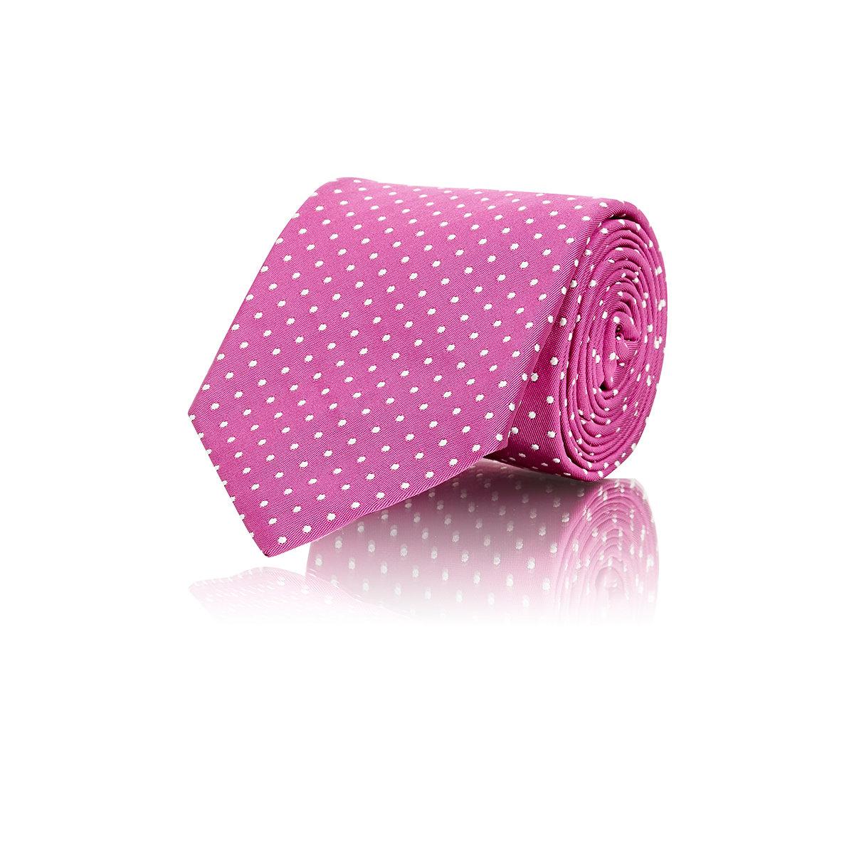 lyst ralph lauren purple label men 39 s dot woven peau de soie necktie in pink for men. Black Bedroom Furniture Sets. Home Design Ideas