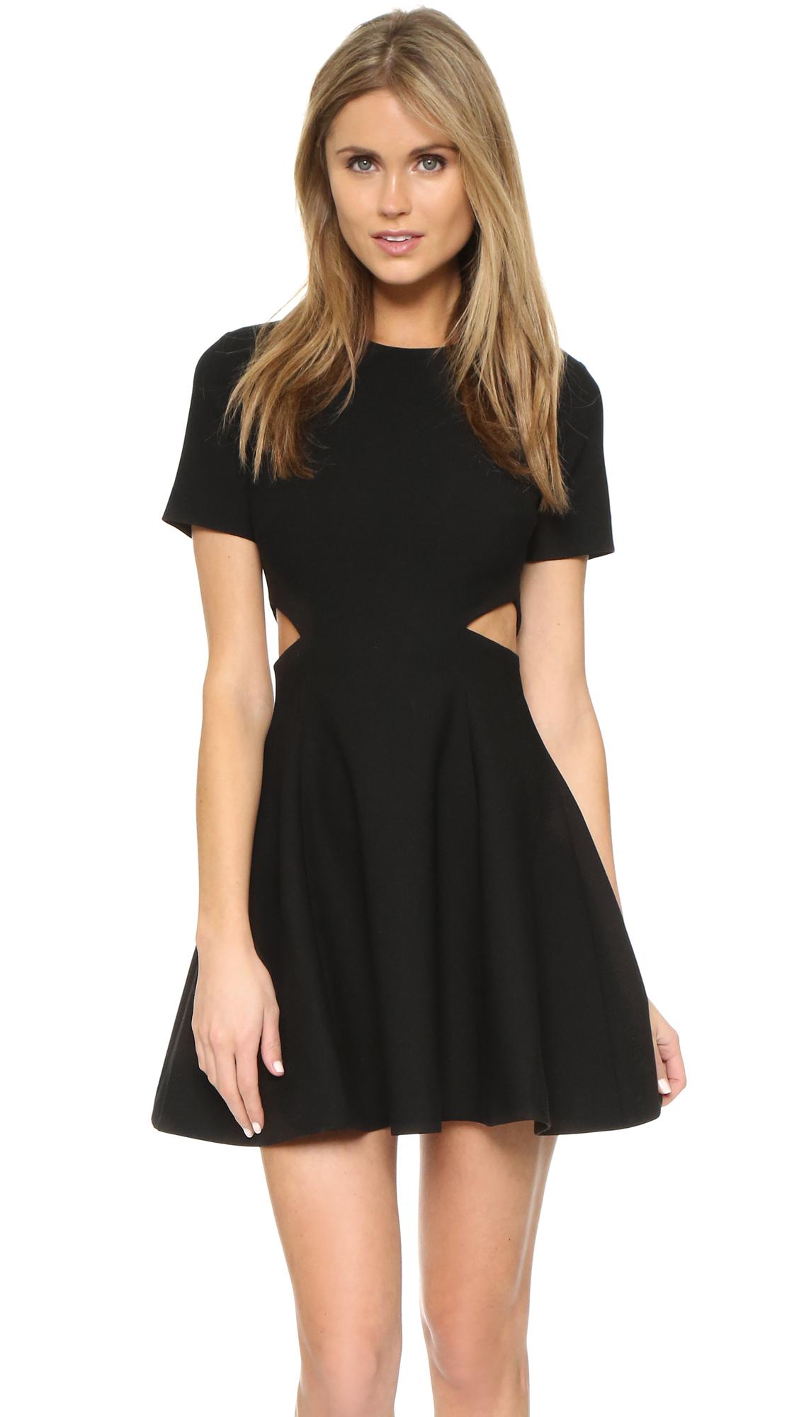lyst elizabeth and james 39 trisha 39 halter dress in black. Black Bedroom Furniture Sets. Home Design Ideas