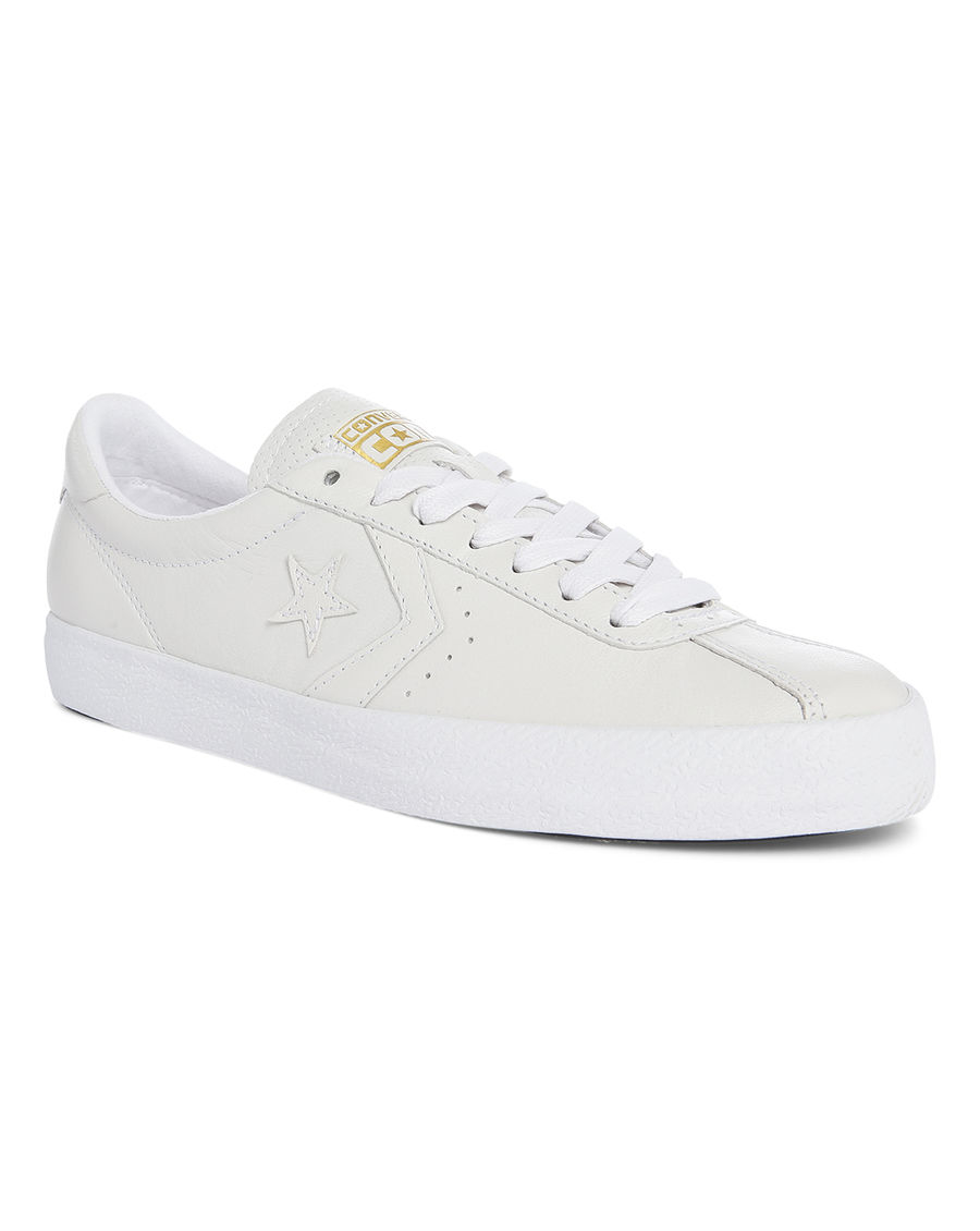 Converse White Breakpoint Leather Sneakers in White for ...