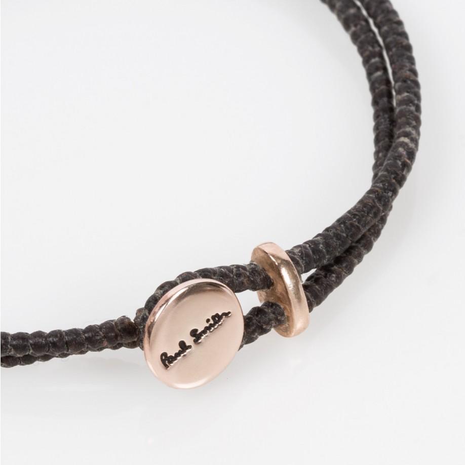 Paul Smith Men S Rose Silver Ganesh Charm Brown Bracelet
