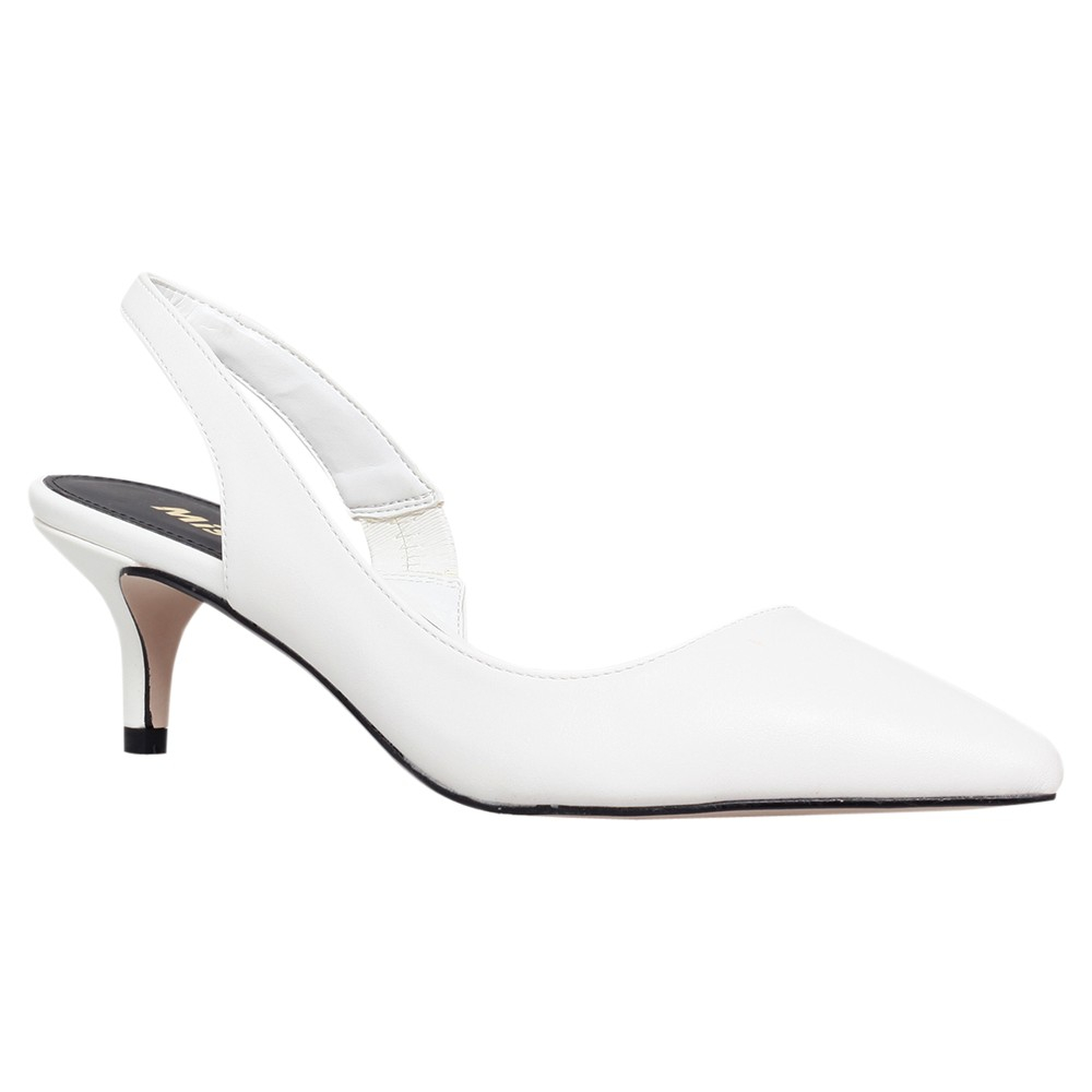 6f9951c3730 Miss Kg Adelaide Kitten Heel Slingback Court Shoes in White - Lyst
