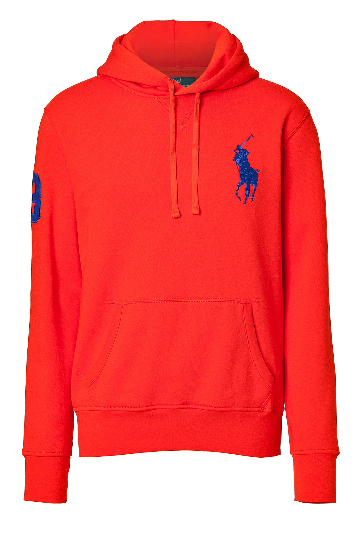 polo ralph lauren cotton blend logo hoodie in red for men lyst. Black Bedroom Furniture Sets. Home Design Ideas