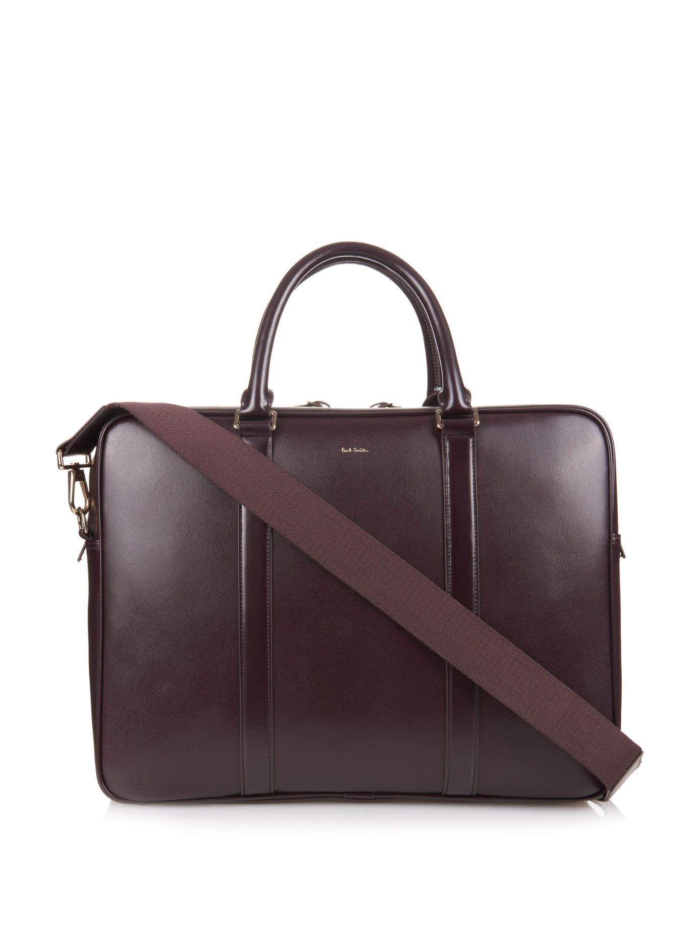 Lyst - Paul Smith Formal Leather Bag In Purple For Men
