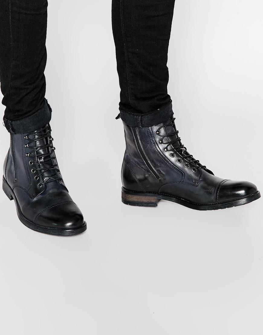 2d458c7ccf7 DIESEL Black D-kallien Lace Up Boots for men