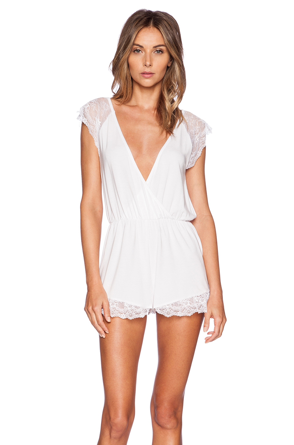 Wildfox Intimates To Have And To Hold Romper in White   Lyst Victoria Beckham Clothing