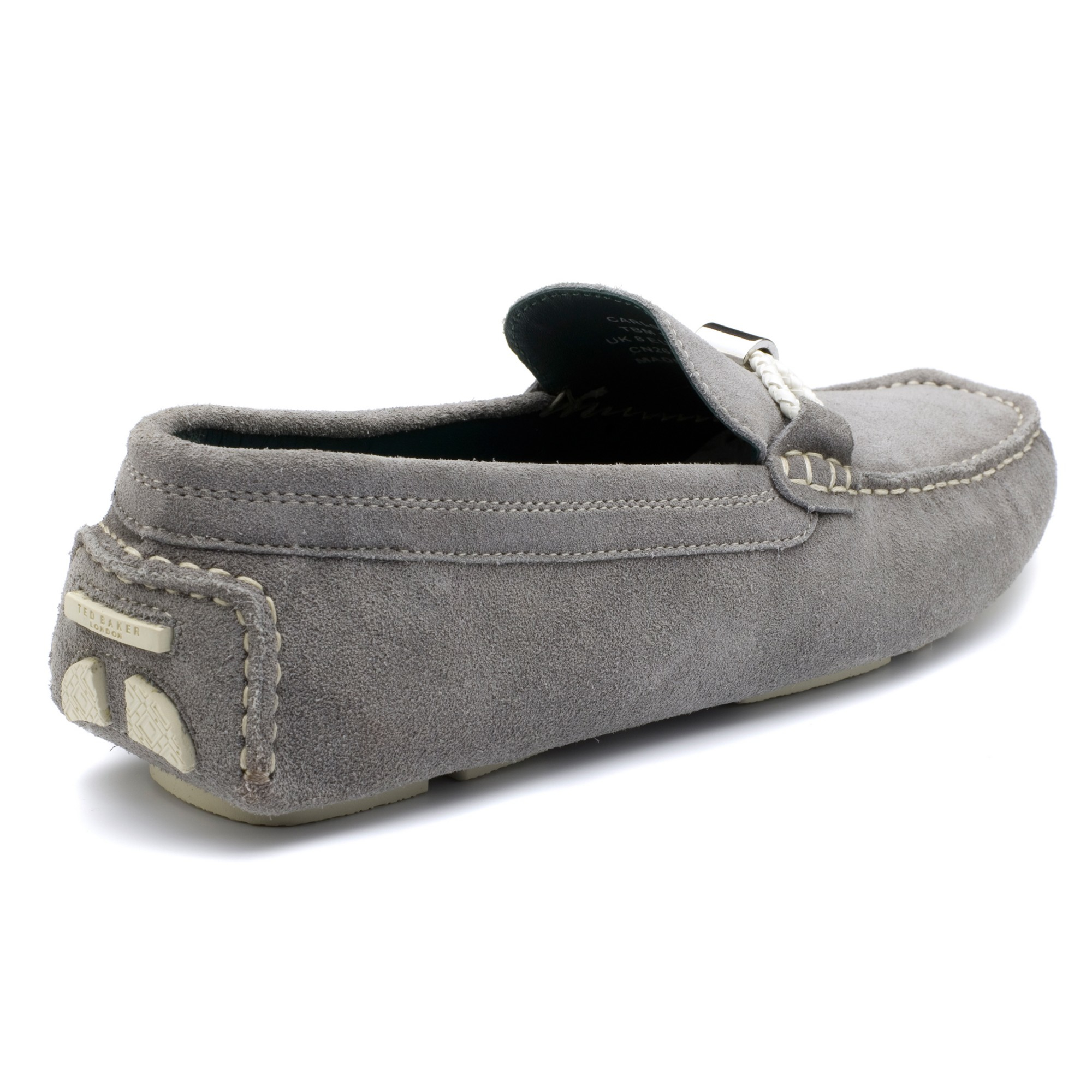 1c2675f94ce Ted Baker Carlsun 2 Slip-on Suede Loafers in Gray for Men - Lyst