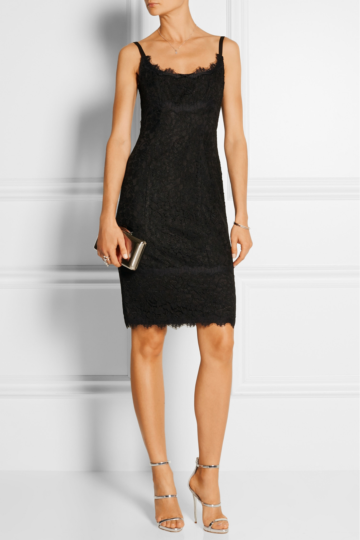 Diane von Furstenberg Olivia Lace Dress in Black - Lyst