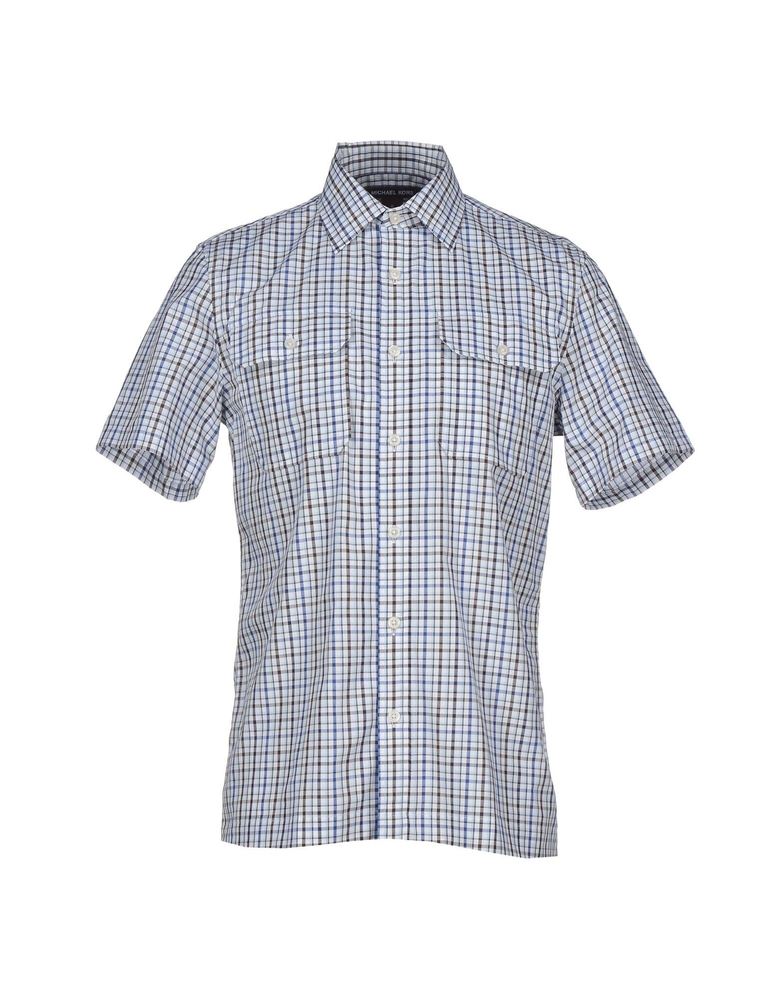michael kors shirt in blue for men lyst. Black Bedroom Furniture Sets. Home Design Ideas