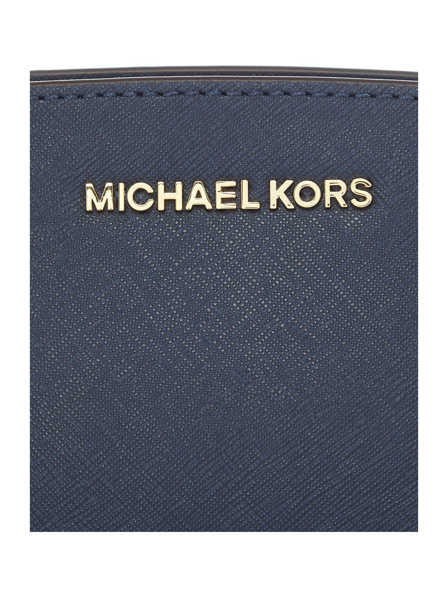 Michael Kors Selma Navy Mini Cross Body Bag in Blue