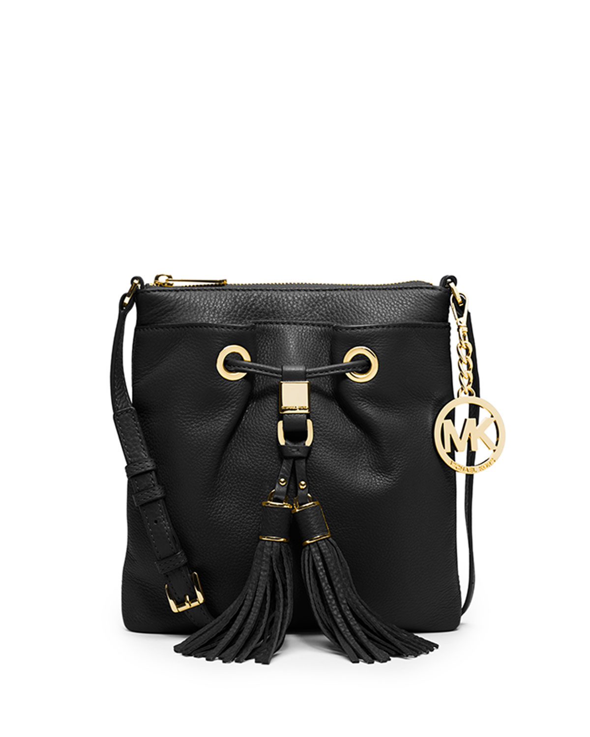 e910ba983e91f7 ... Michael michael kors Camden Crossbody Bag in Black Lyst Michael Kors  Camden Drawstring ...