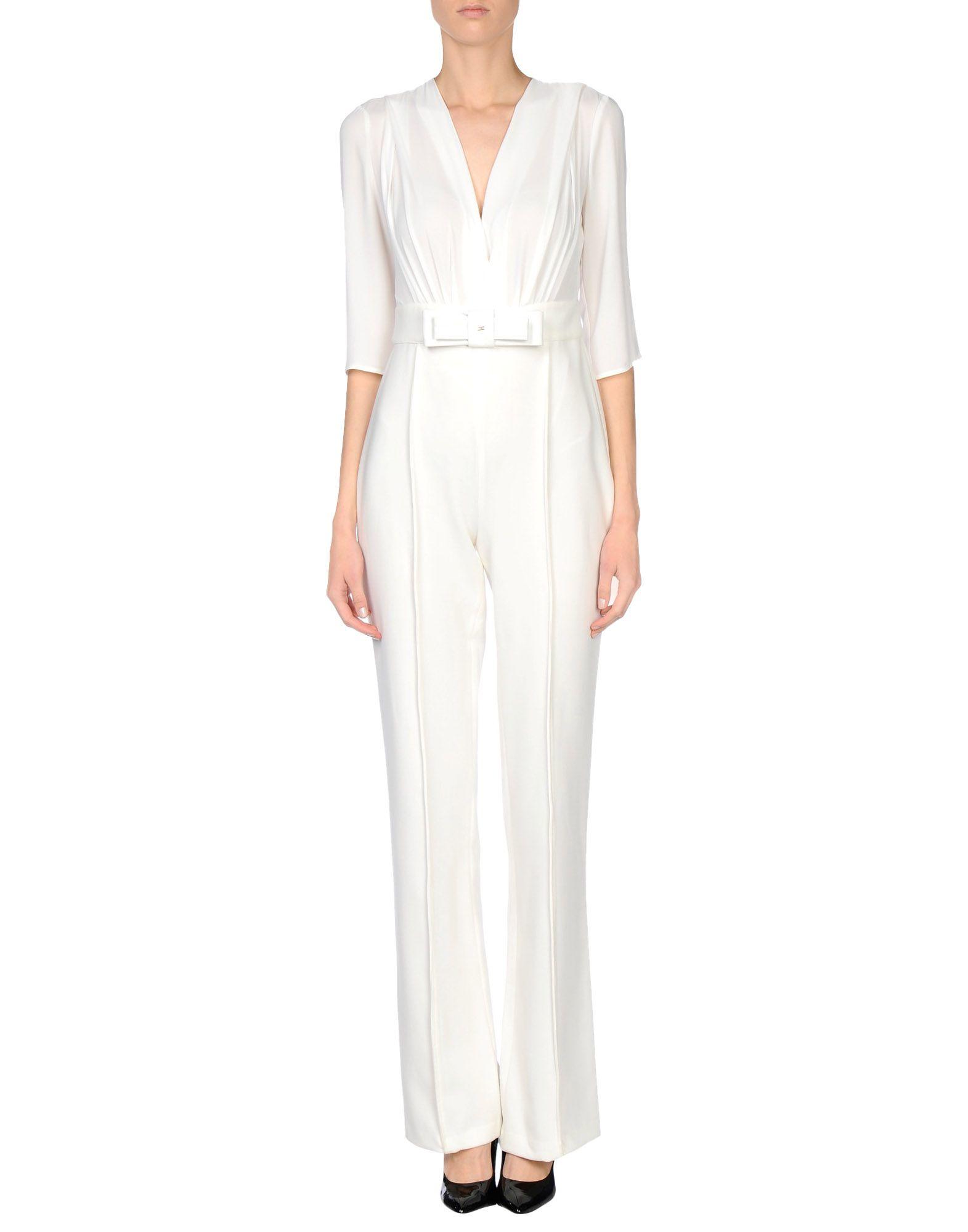 buy popular 5b31f 5e9ce Elisabetta Franchi Jumpsuit in White - Lyst