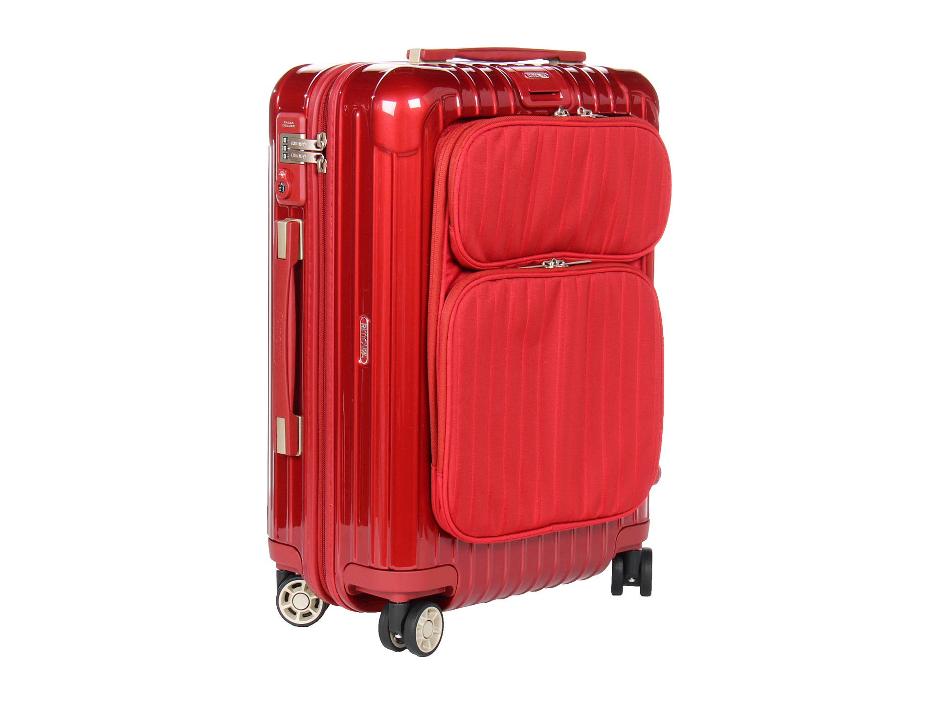 rimowa salsa deluxe hybrid 21 cabin multiwheel in red. Black Bedroom Furniture Sets. Home Design Ideas