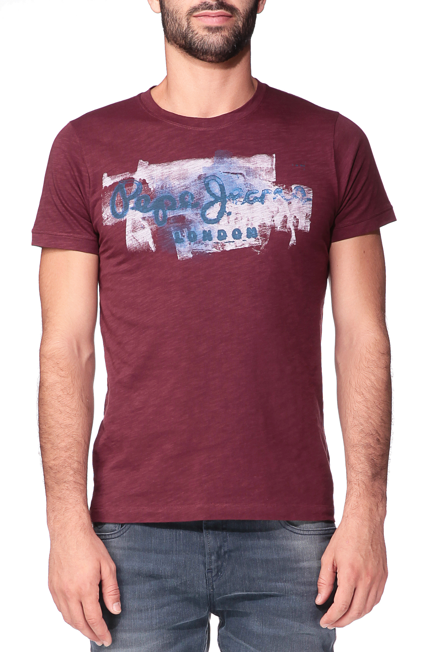 pepe jeans printed t shirt in red for men lyst. Black Bedroom Furniture Sets. Home Design Ideas
