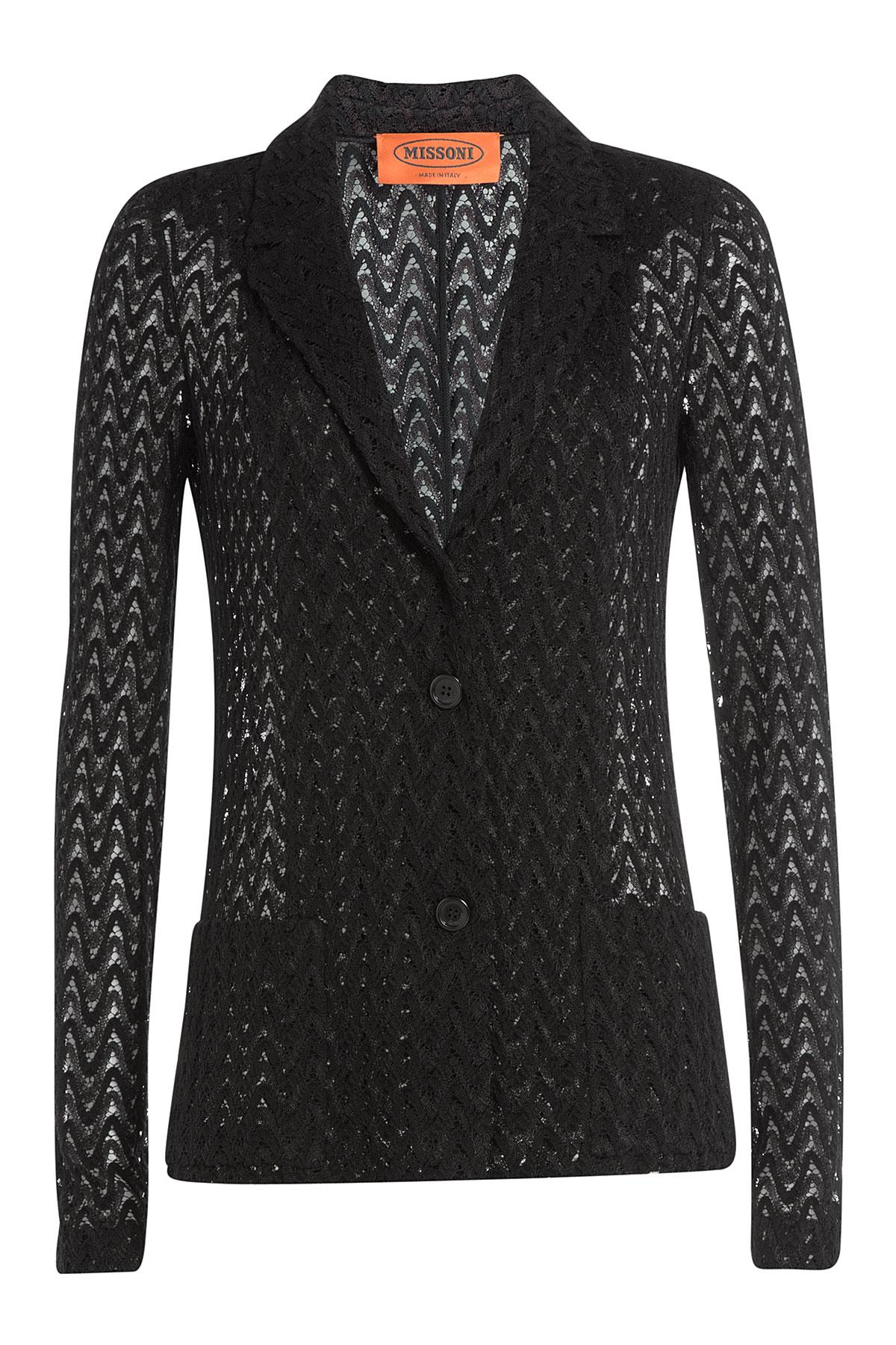 Black Crocheted Cardigan 11