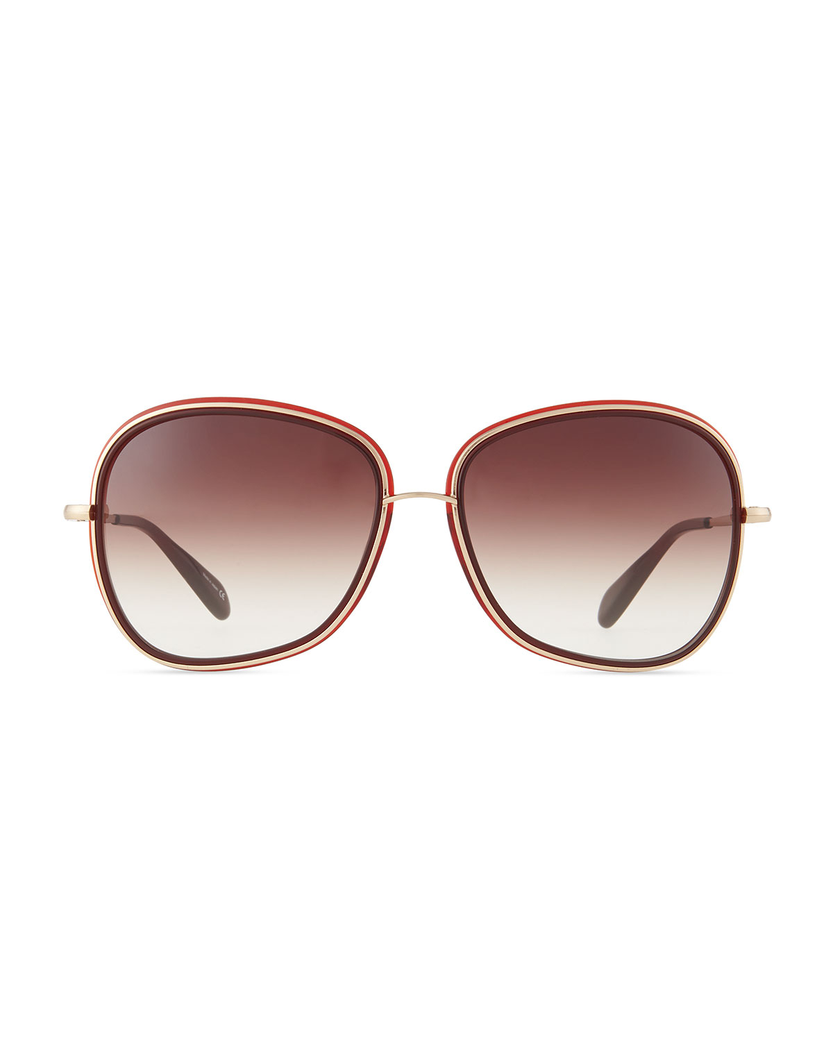 Oliver Peoples Emely Sunglasses  oliver peoples emely rounded pillow sunglasses oxblood in purple