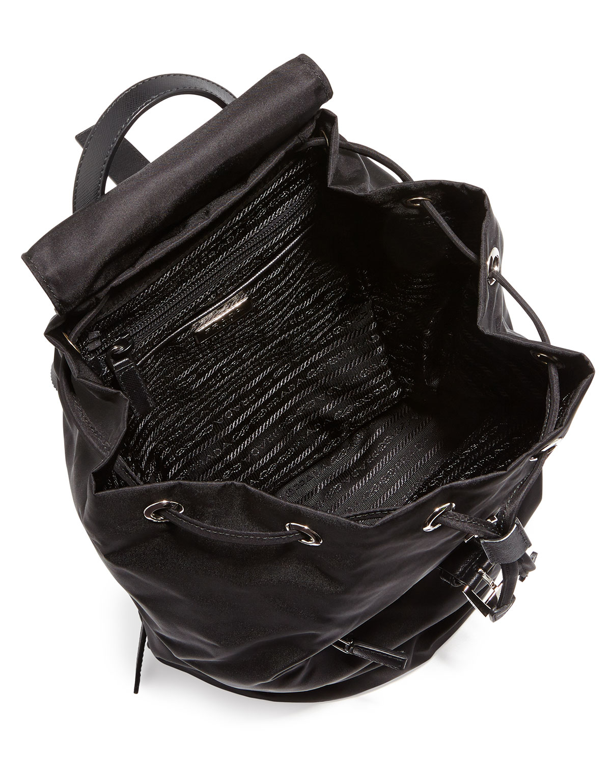 f9a5d5c4ed8a ... australia prada vela medium backpack in black blacknero lyst. prada  tess mini eeca6 fb1e7