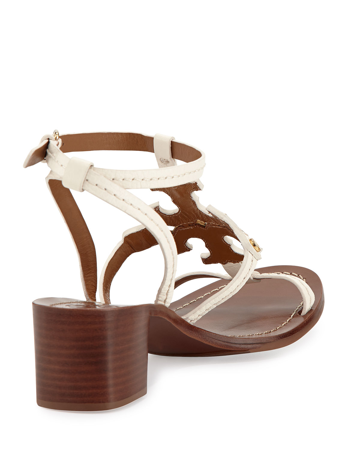 02ad52f32 ... cheap tory burch phoebe leather logo sandal in white lyst 3d0d9 757c0