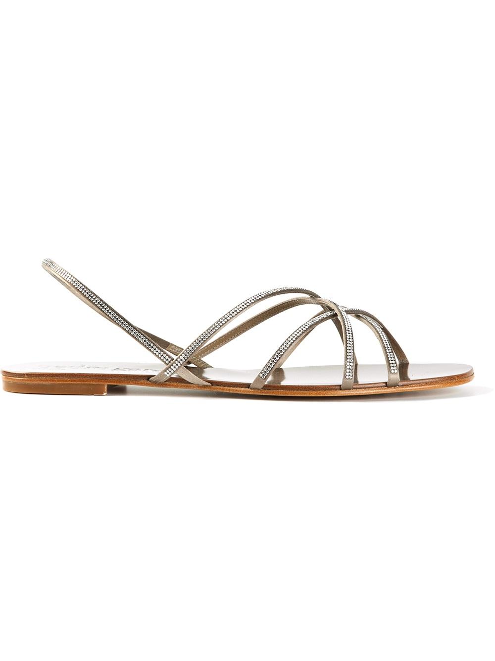 7dd4bc25bad Lyst - Pedro Garcia Elora Flat Sandals in Metallic