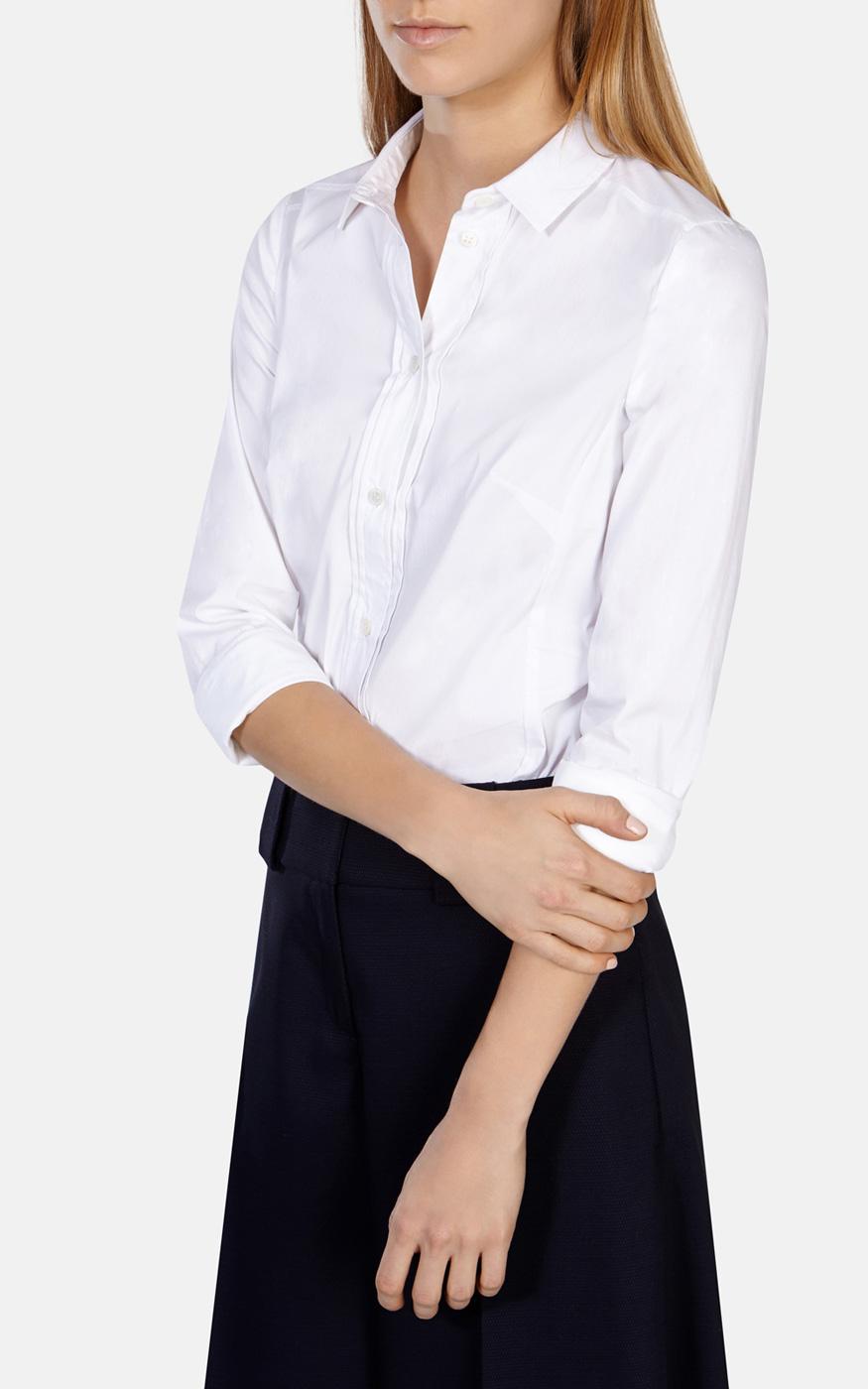 Karen Millen Tailored White Shirt In White Lyst