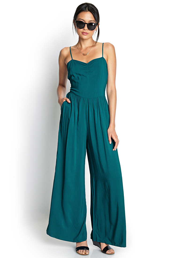 Amazing Wide Leg Womens Gypsy Long Jumpsuit Dress In Turquoise Druid Summer