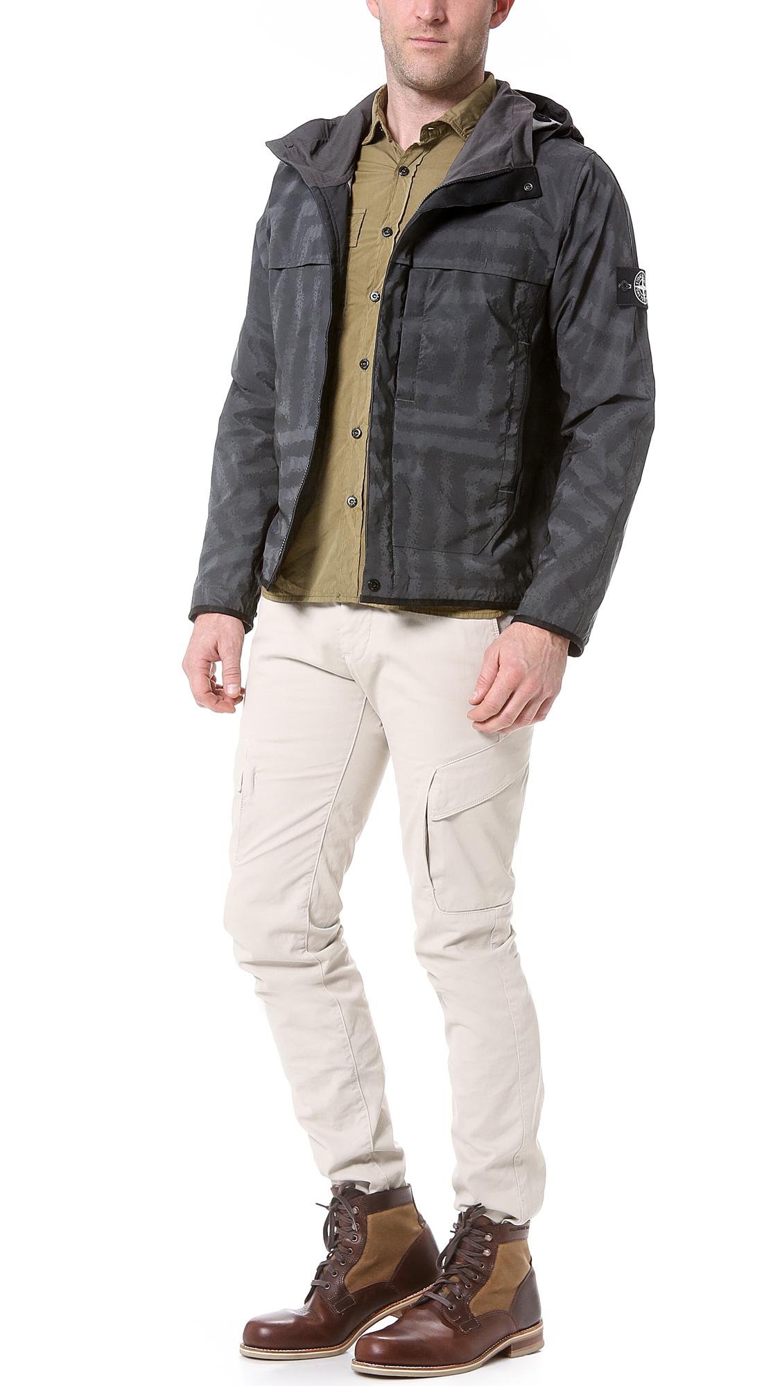 Stone Island Reflective Jacket With Lazer Treatment In