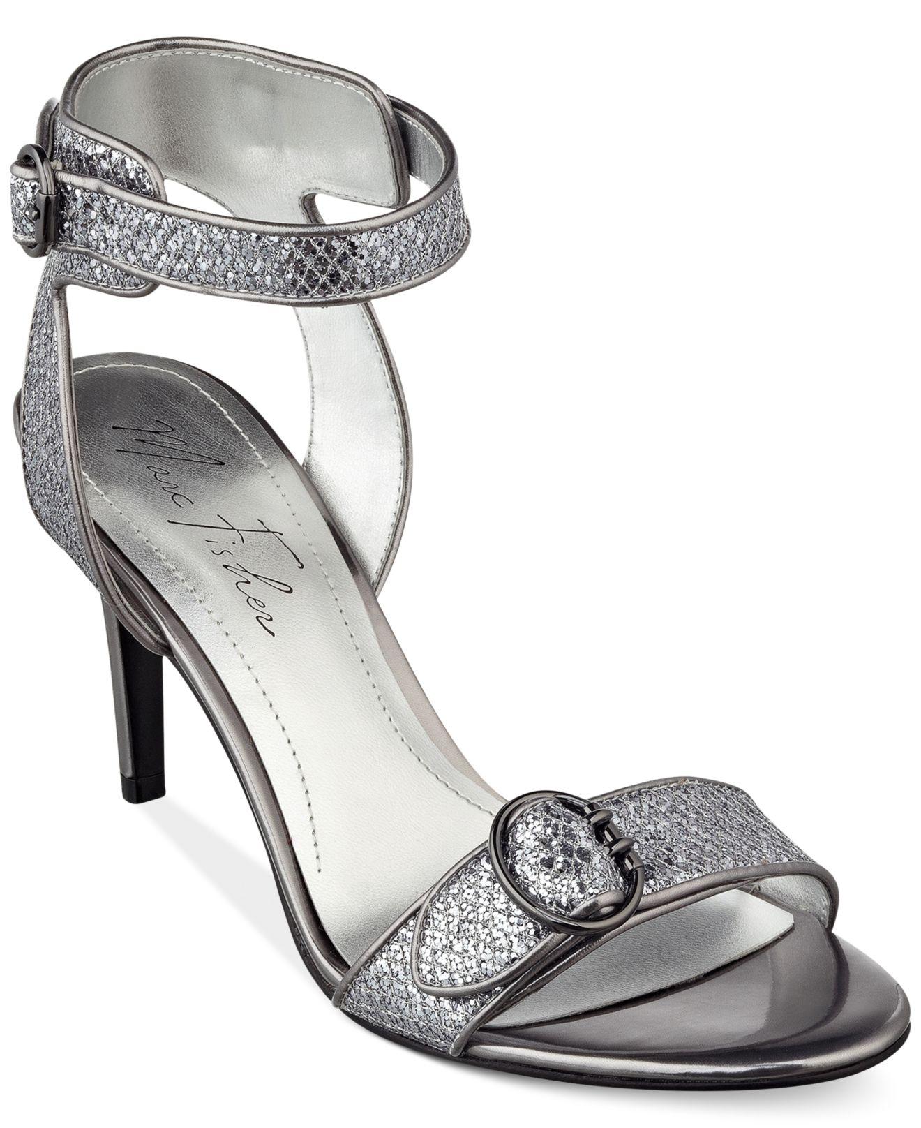 cdf197b78 Marc Fisher Malika Mid Heel Evening Sandals in Metallic - Lyst