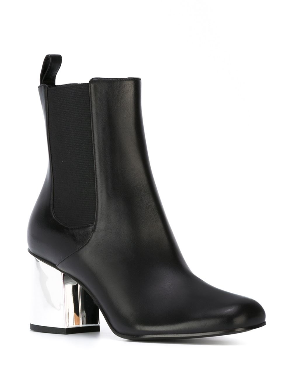gucci ankle boots with metal heel in black lyst