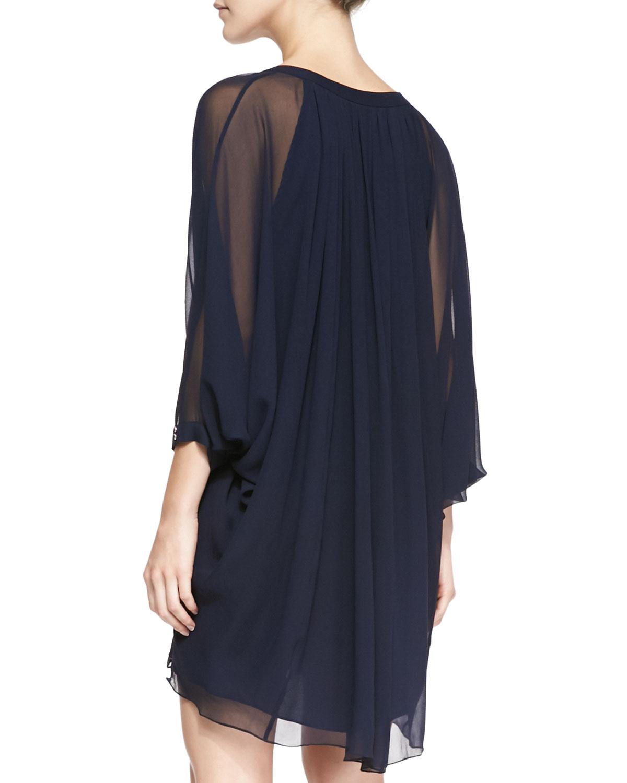 384949715c94 Lyst - Diane von Furstenberg Fleurette Silk Dress in Blue