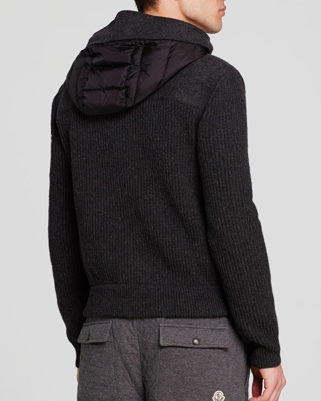 moncler maglione barrel side panel cardigan