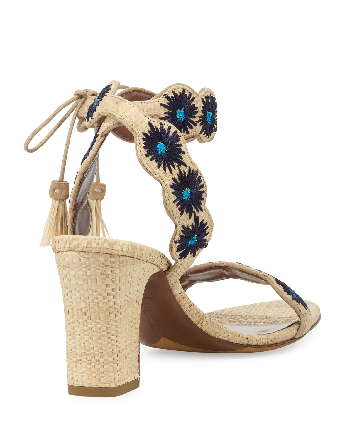 release dates cheap online Tabitha Simmons Raffia Embroidered Sandals explore cheap price sale finishline eyAxm6hY
