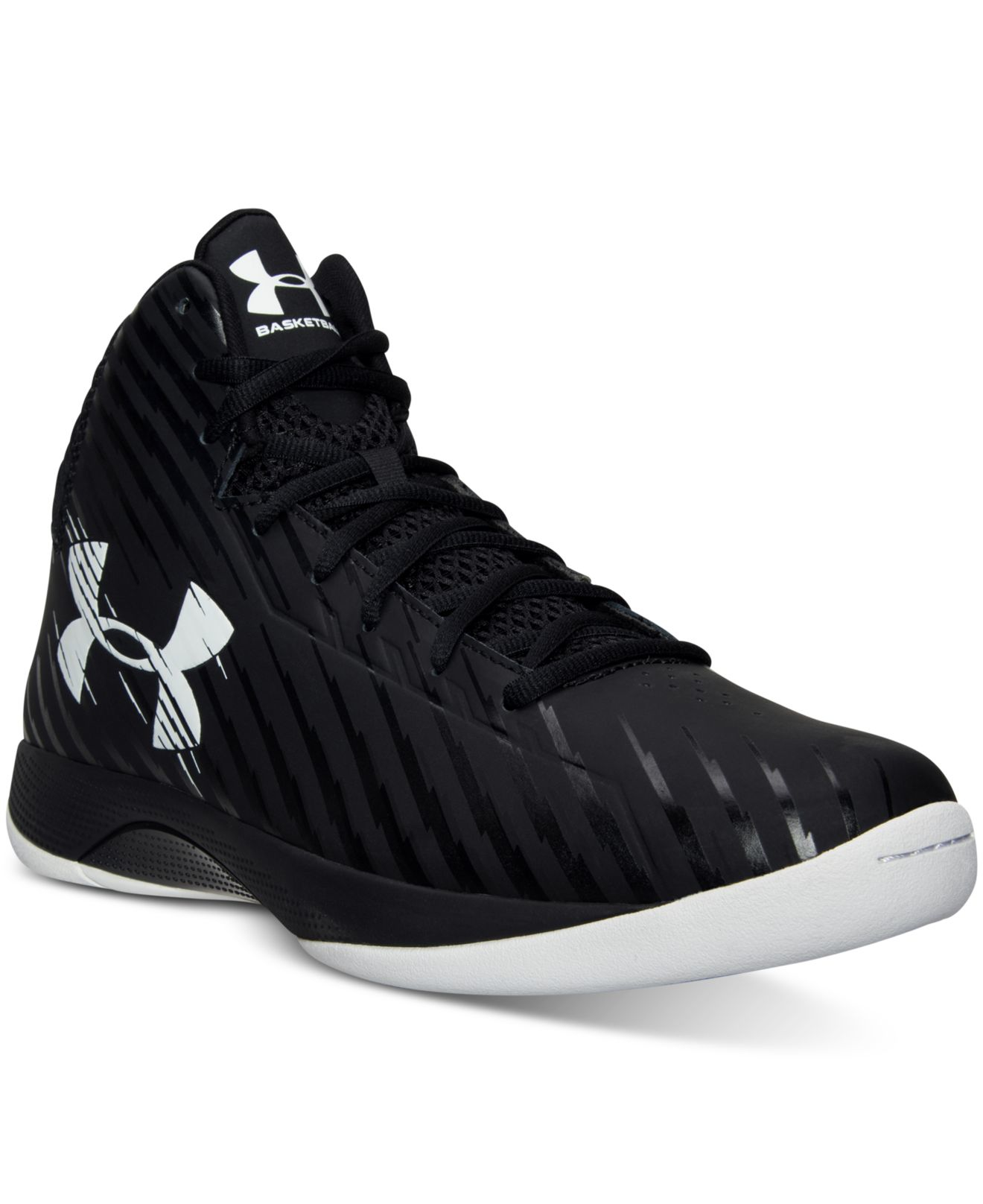 bc70b09d698a Under Armour Men s Jet Basketball Sneakers From Finish Line in Black ...