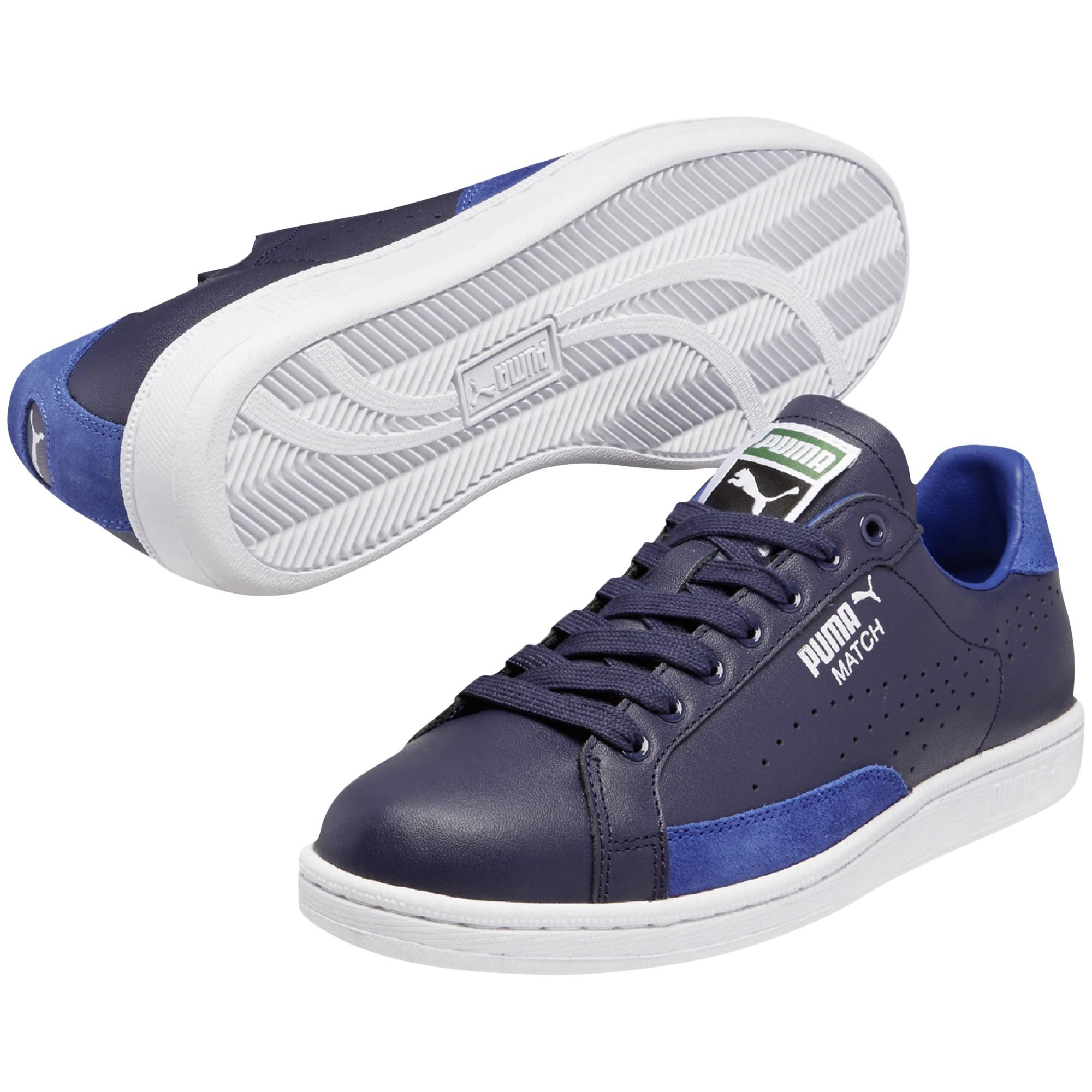 b01bab170cd2a3 PUMA Match 74 Leather Trainers in Blue - Lyst