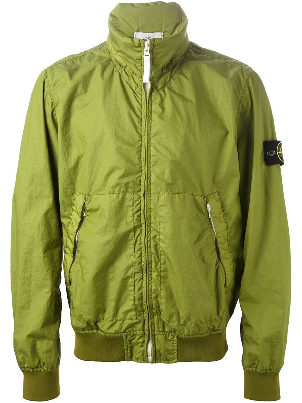 bd34f9b26 Stone Island Logo Patch Bomber Jacket in Green for Men - Lyst