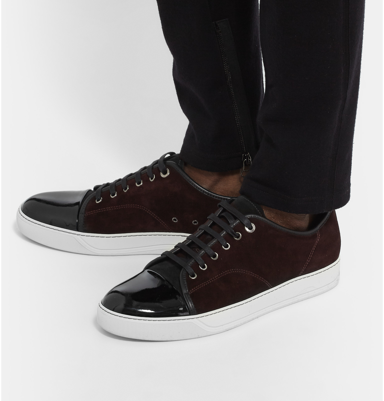 Get Authentic Online Lanvin Sneakers with patent leather toe cap Buy Cheap Fashion Style In China Cheap Price Cheap Sale Footlocker Huge Surprise iMEIVHtrp