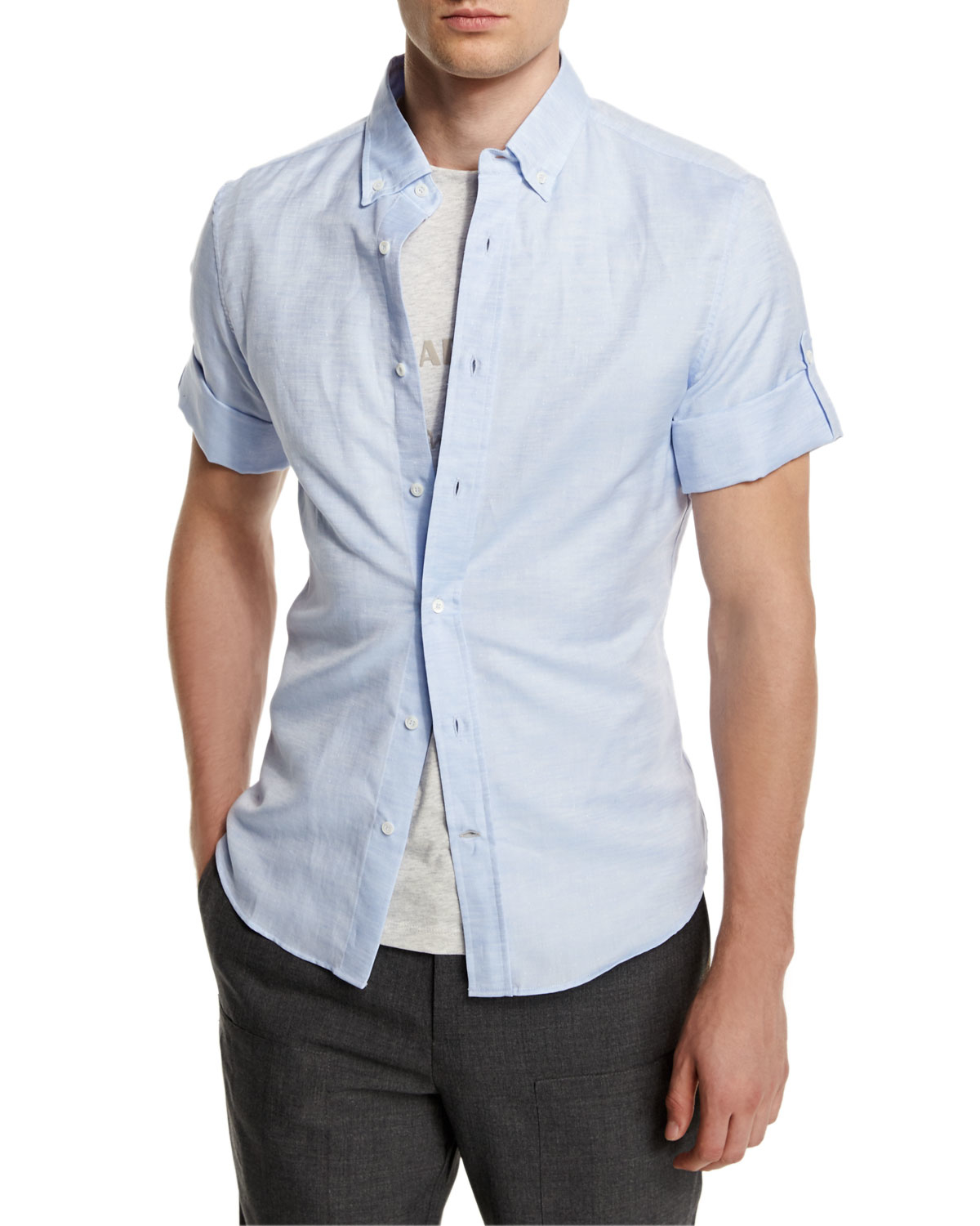 Powder Blue Button Down Shirt | Is Shirt