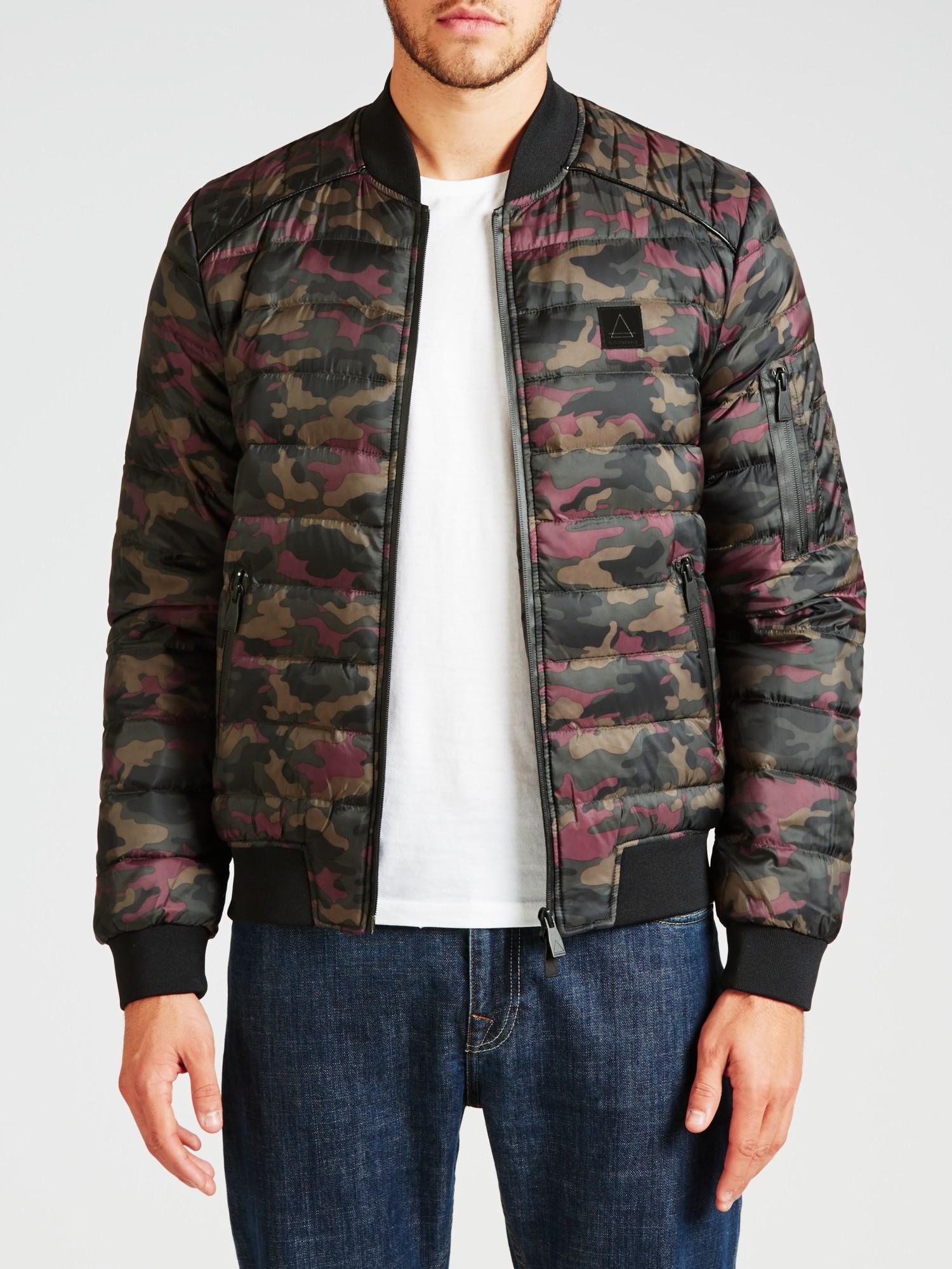 ELEVEN PARIS Denim Minor Camo Print Quilted Jacket for Men