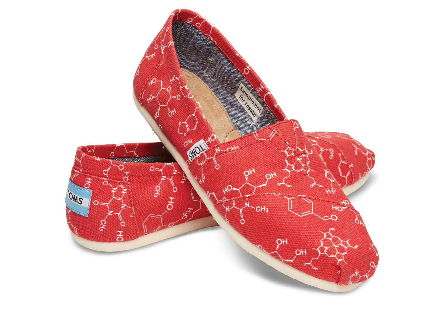 Lyst Toms Chemical Structure Women S Classics In Red