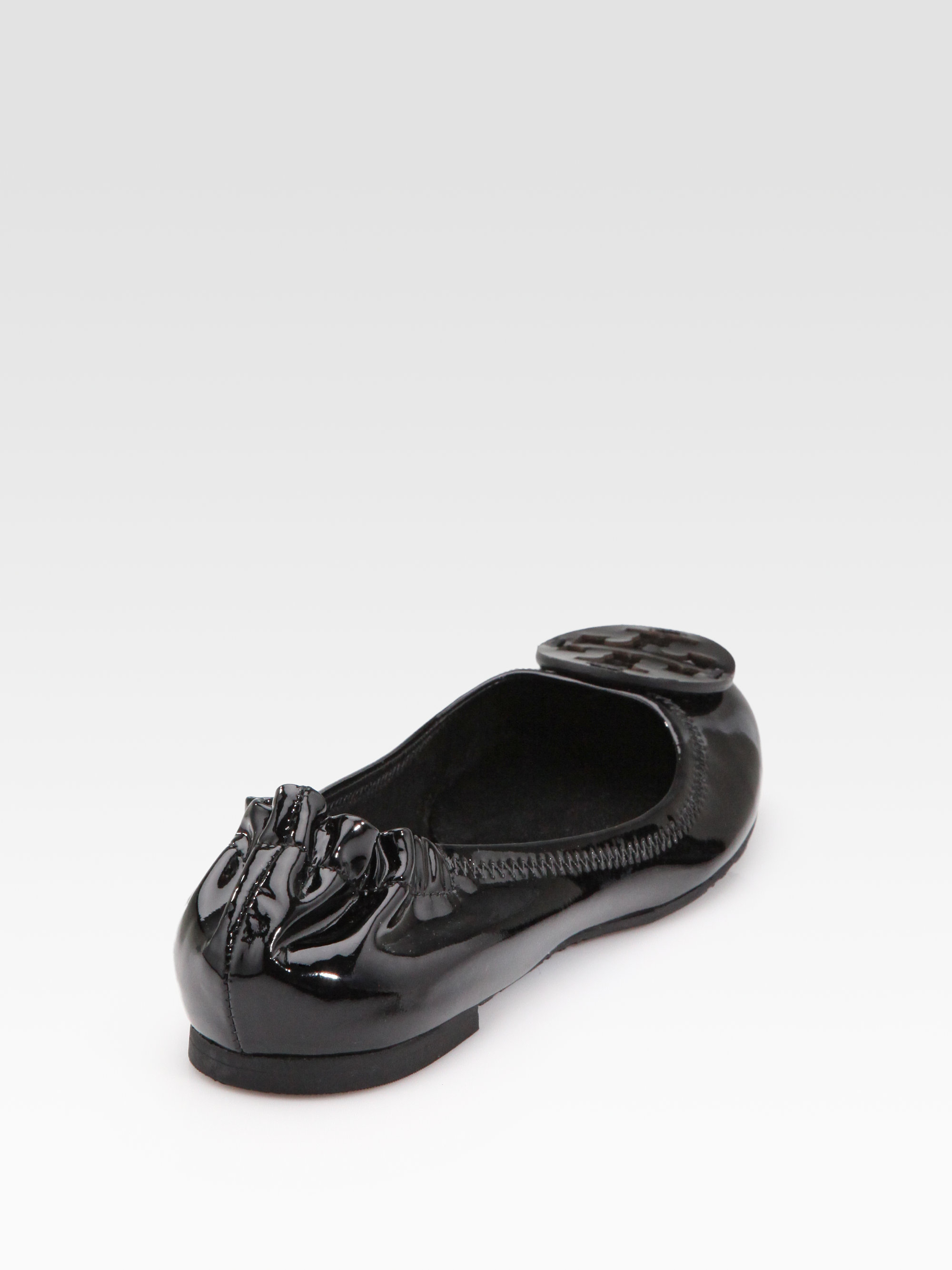 b117983f0f24 ... new zealand lyst tory burch reva patent leather ballet flats in black  6a9b6 9fcac