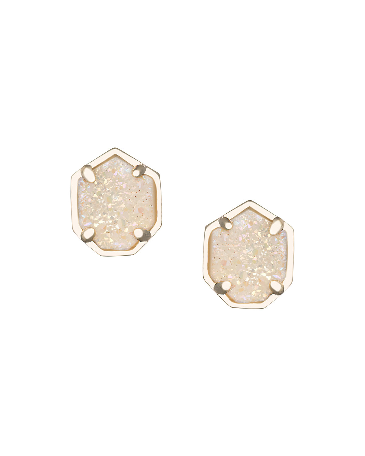 kendra earrings studs kendra logan drusy stud earrings in gold platinum 2877