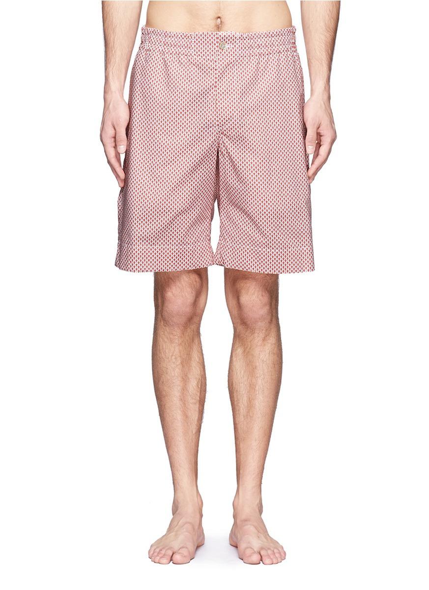 0dcee1fb71 Alexander McQueen Skull And Dot Print Swim Shorts for Men - Lyst