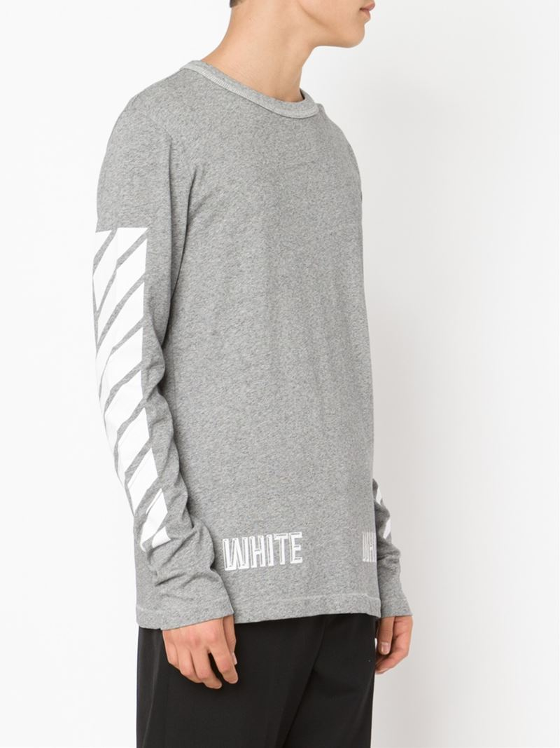 Lyst off white c o virgil abloh long sleeve t shirt in Mens long sleeve white t shirt