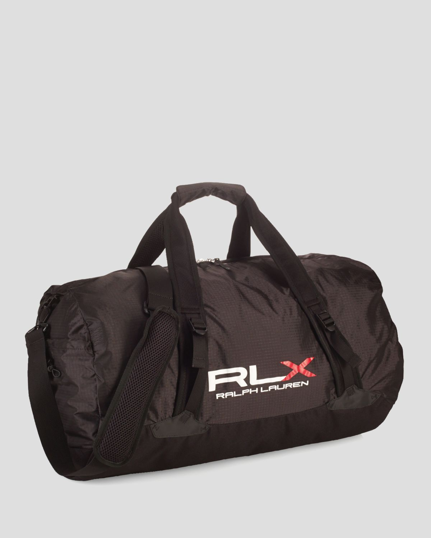 ralph polo lightweight packable duffel bag in black